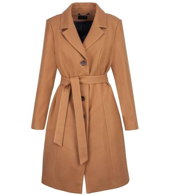 Kobiecy płaszcz przejściowy Wiązany w PASIE