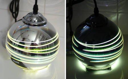 LAMPA SUFITOWA 3DPremium SREBRNA KULA