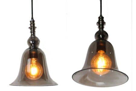 LAMPA SUFITOWA Premium DZWONEK POŁĄCZENIE SREBRA BRĄZU
