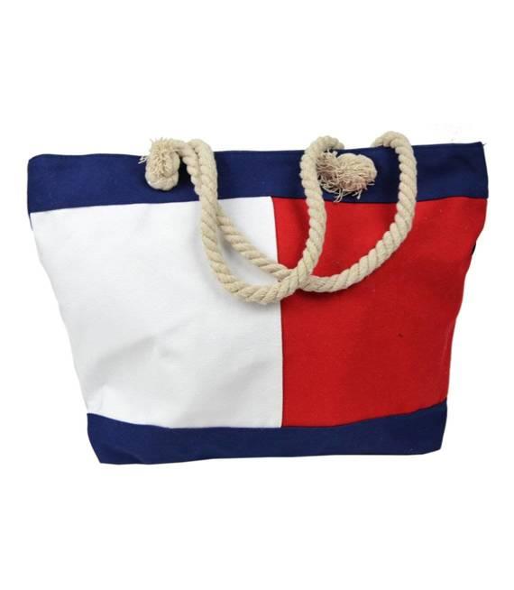 Mega duża torba sportowa plażowa TRICOLOR