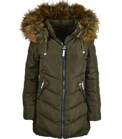 Modna dłuższa zimowa kurtka damska
