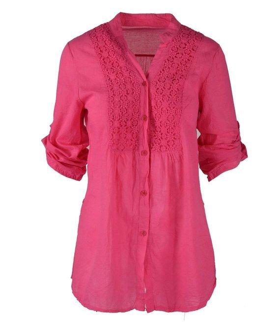 Piękna bluzka koszula z gipiurą