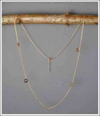 Piękny długi naszyjnik łańcuszek BOHO