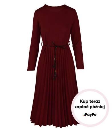 Stylowa plisowana sukienka Retro ONE SIZE