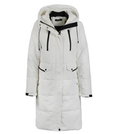 Supermodna puchowa kurtka płaszcz
